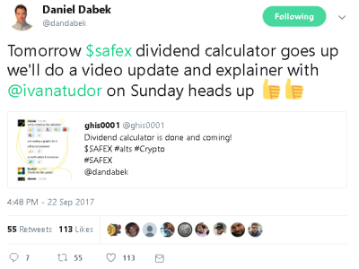 DanDabek SAFEX tweet092217